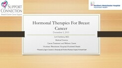 Hormonal Therapies for Breast Cancer-12/9/19